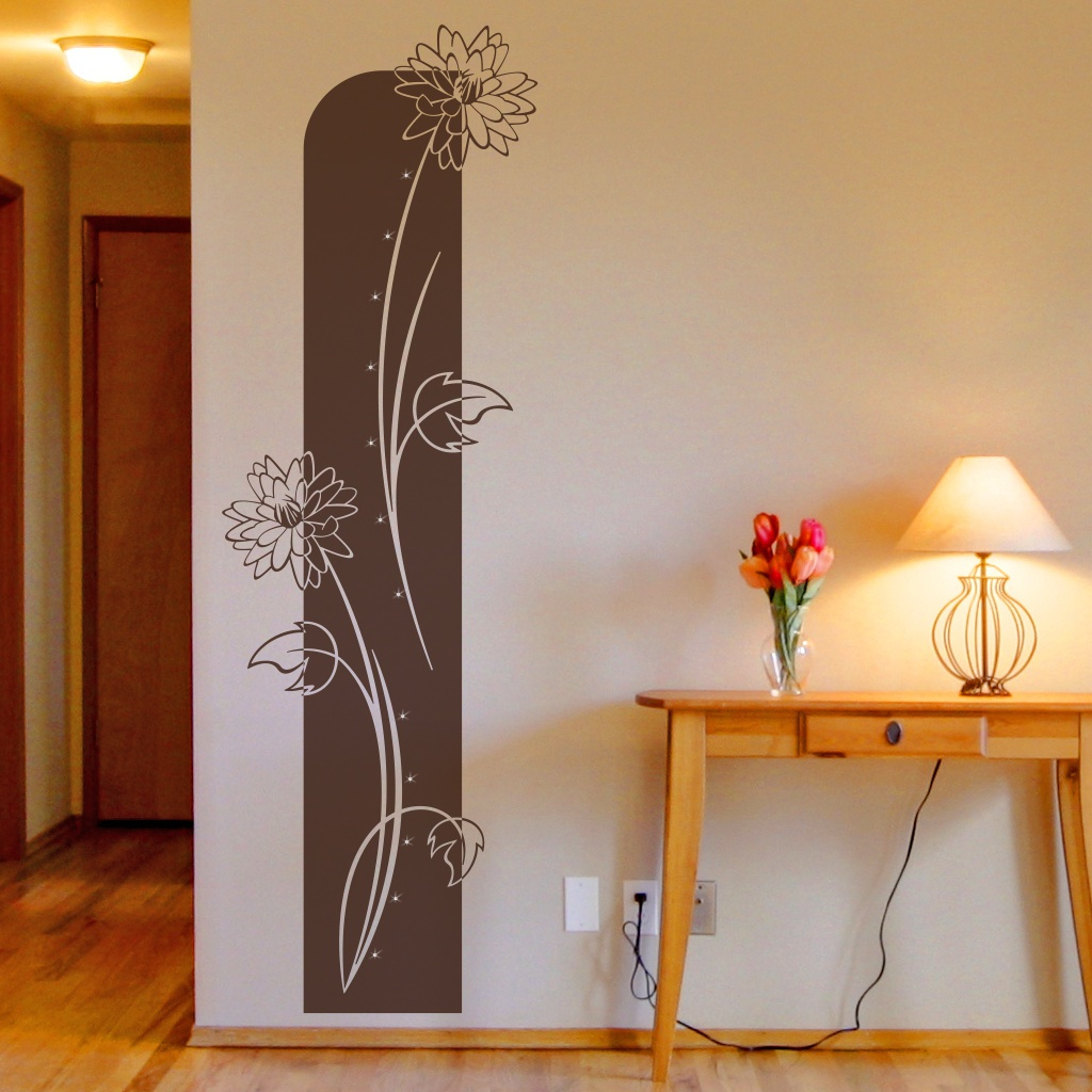 florales wandtattoo blumen pflanzen wandbanner viviana. Black Bedroom Furniture Sets. Home Design Ideas