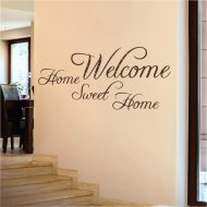 Wandtattoo Spruch Wandworte: Welcome Sweet Home