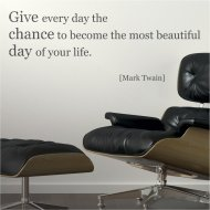 Wandtattoo Spruch Zitat englisch: Give every day the chance